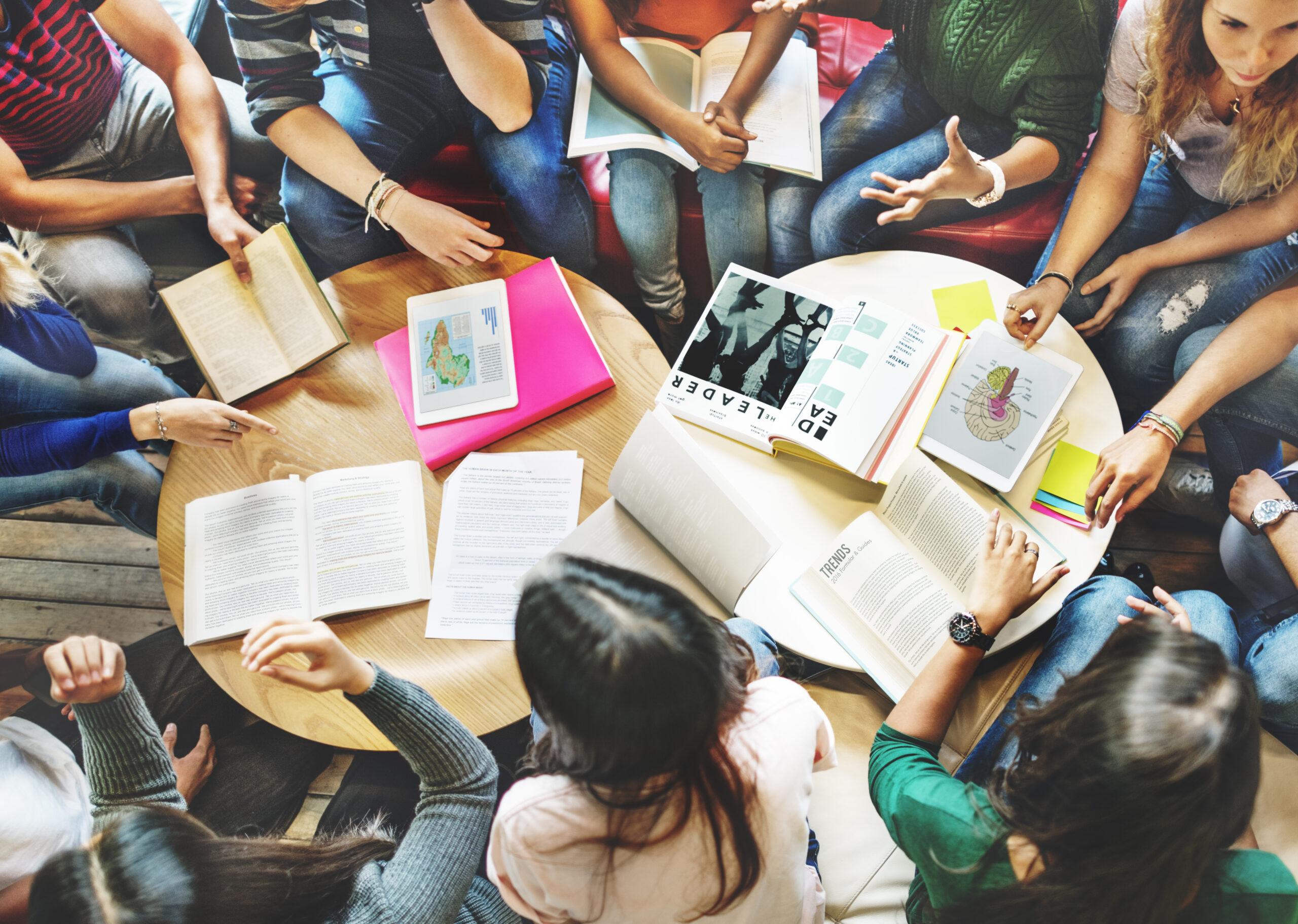 Students studying Math